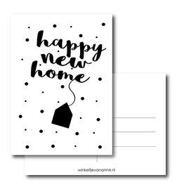 Postkaart Happy new home