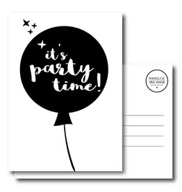 postkaart It's party time