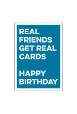 Postkaart Real friends get real cards