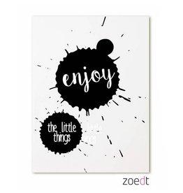 Postkaart Enjoy the little things