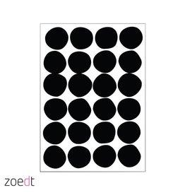 Postkaart Zwarte bollen