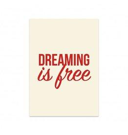 Postkaart Dreaming is free
