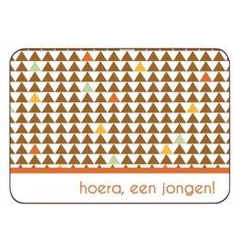 Postkaart Hoera, een jongen