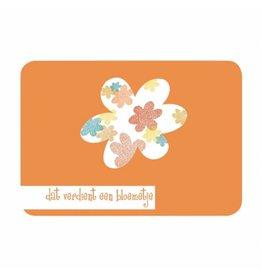 Postkaart Dat verdient een bloemetje