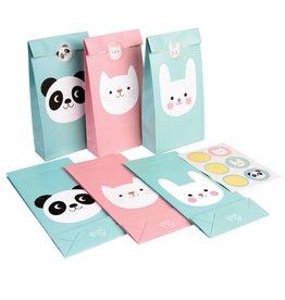 Feestzakjes panda, konijn & kat