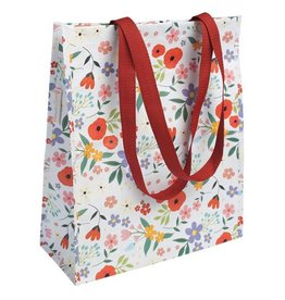 Shopper A3 bloemen wit