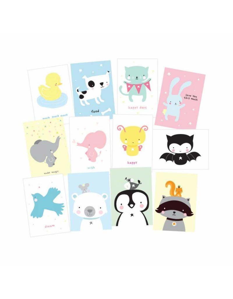 Set kaartjes animals