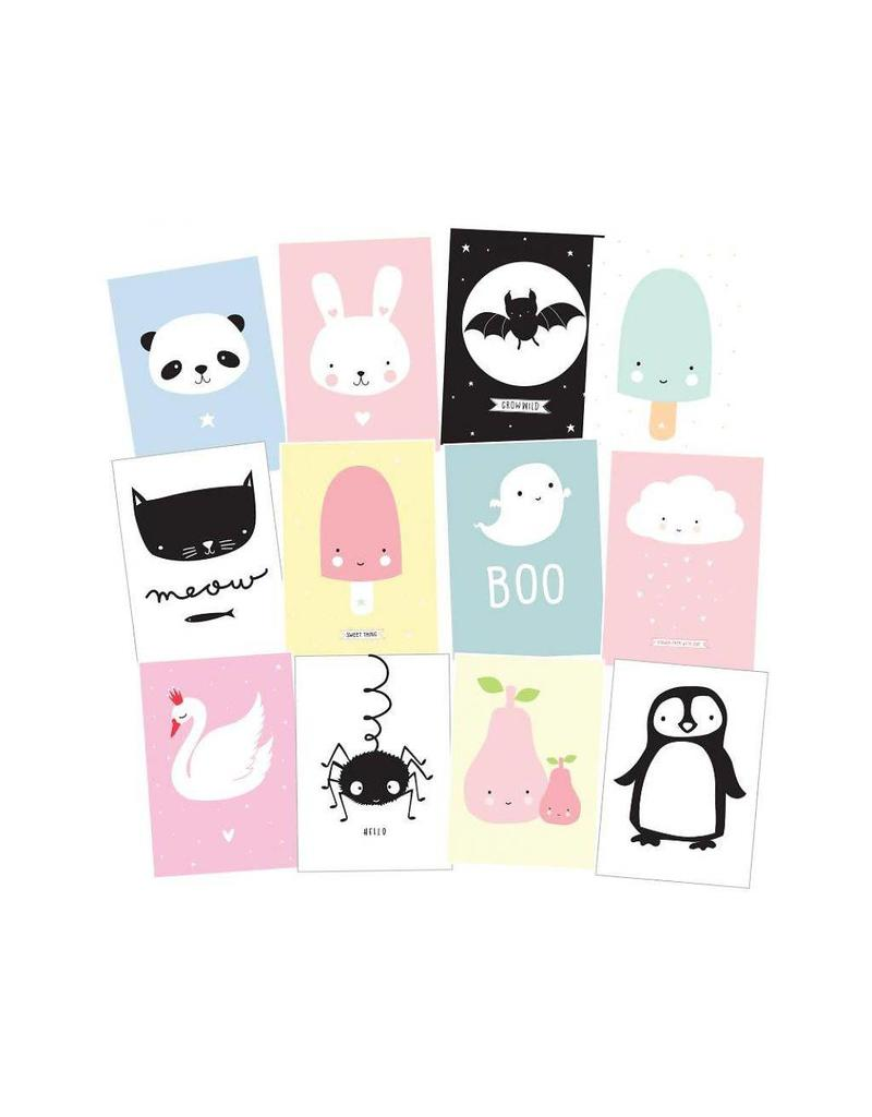 Set kaartjes cute kids