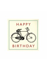 Kaartje met enveloppe fiets
