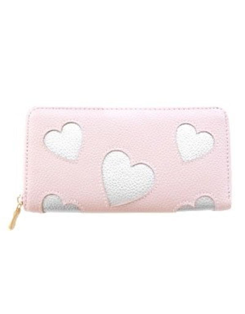 Portemonnee hart roze
