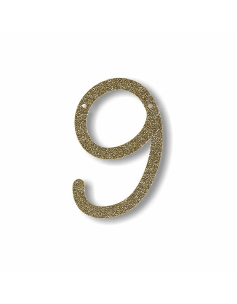 Gouden letter 9