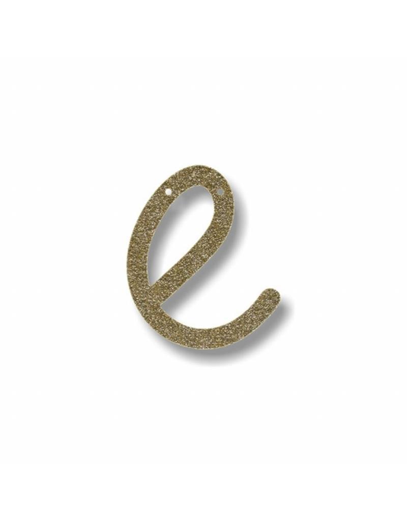 Gouden letter E