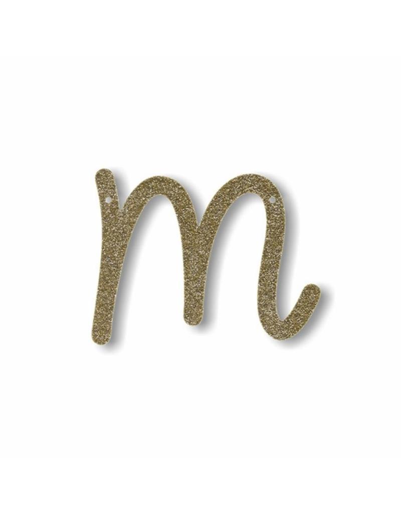 Gouden letter M