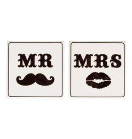 Onderzetters Mr. & Mrs.