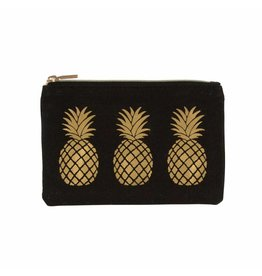 Portemonneetje ananas goud
