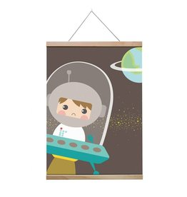 Poster A3 astronaut