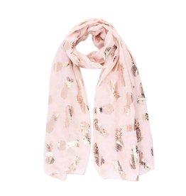 Sjaal ananas groot roze