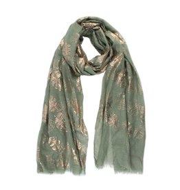 Sjaal bladeren groen