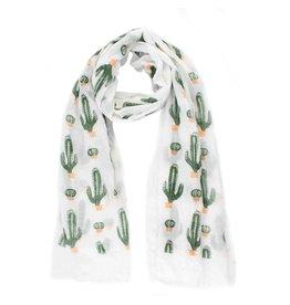 Sjaal cactus wit