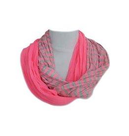 Sjaal dubbel fluo roze