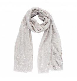 Sjaal zilveren stippen grijs