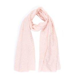 Sjaal zilveren stippen roze