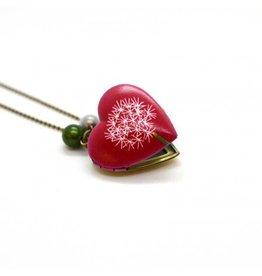 Locket hart blaasbloem