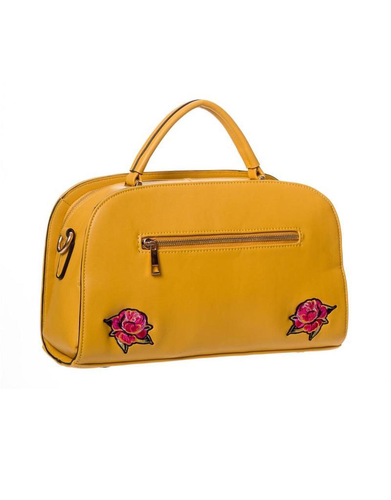 Handtas borduur geel