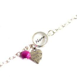 Perso armbandje Made with love