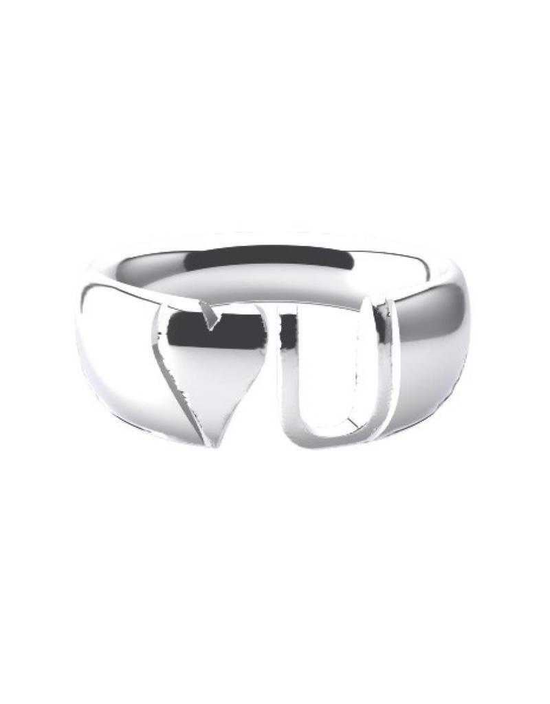Suuz Initial blend ring 925 zilver