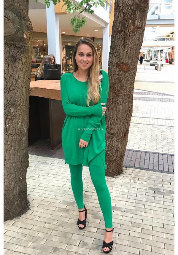 GREEN - 'KILKY' FASHIONABLE SOFT COMFY SUIT