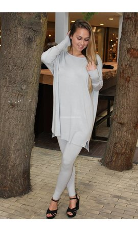 LIGHT GREY - 'KILKY' FASHIONABLE SOFT COMFY SUIT