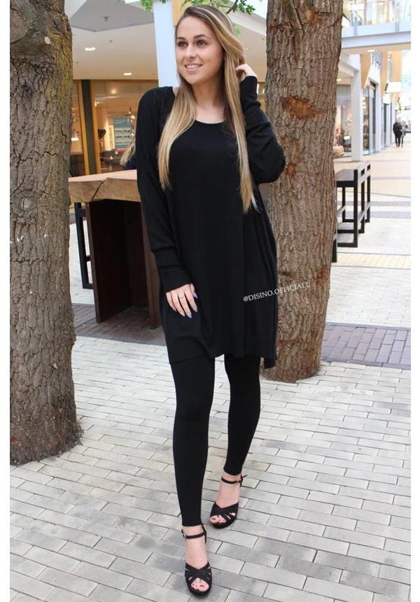 BLACK - 'KILKY' FASHIONABLE SOFT COMFY SUIT