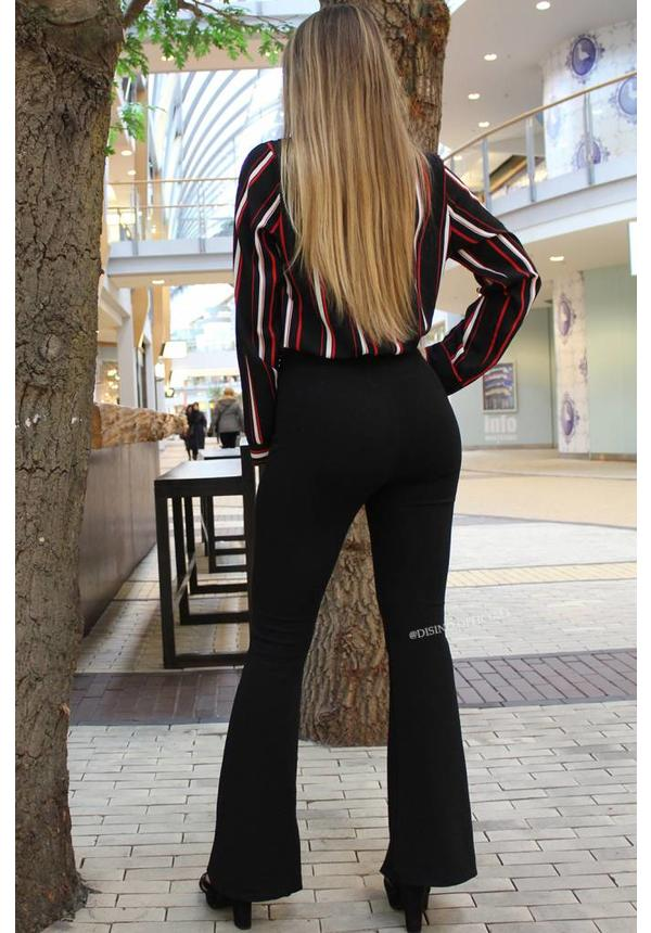 BLACK - THE BEST FLARED PANTS