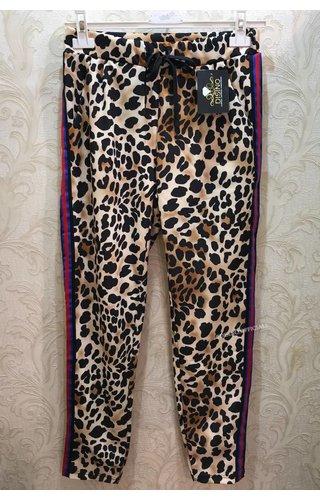 'PAMELA' - STRIPED LEOPARD PANTS