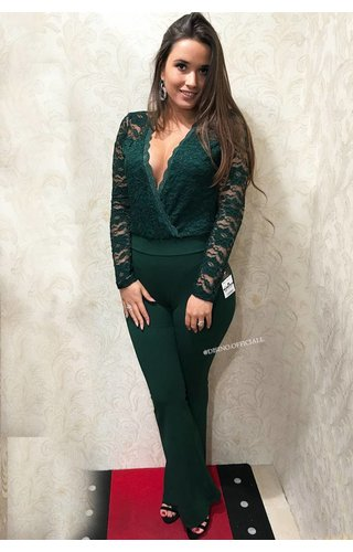 GREEN - THE BEST FLARED PANTS