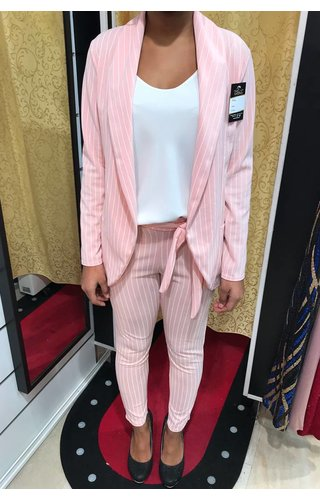PINK - 'NADELY' - STRIPED SUIT