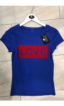 ROYAL BLUE - FURRY LOVE TEE