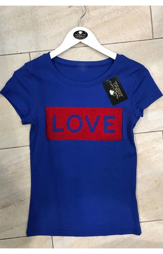 ROYAL BLUE - FURRY LOVE TEE