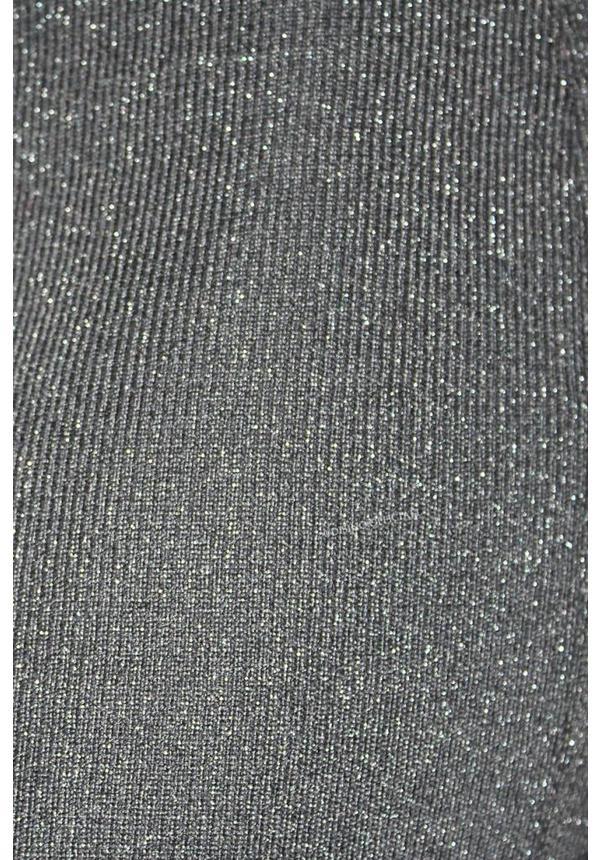 BLACK - 'HEATHER' GLITTER MIDI DRESS