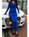 ROYAL BLUE - 'LAURA' - PREMIUM RIBBED TWIN SET
