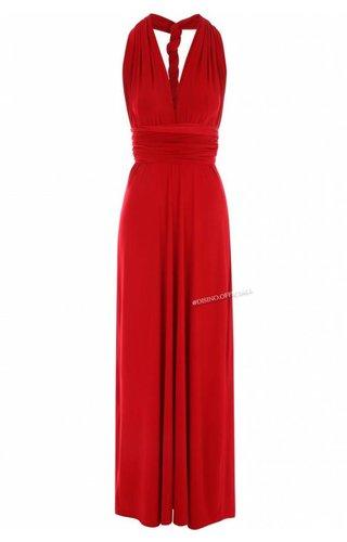 RED - MULTI-WAY MAXI DRESS