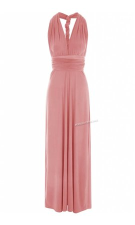 PINK - MULTI-WAY MAXI DRESS