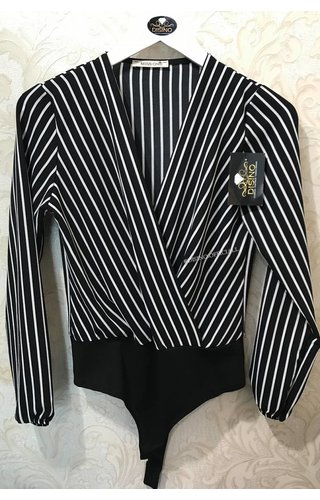BLACK 'N WHITE STRIPED BODYSUIT