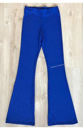 ROYAL BLUE - RIBBED FLARED PANTS