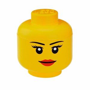 Lego Opbergbox hoofd meisje groot