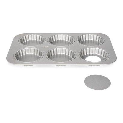 Patisse Silver Top Mini Quichevorm Losse Bodems 6 Vakken 10 cm