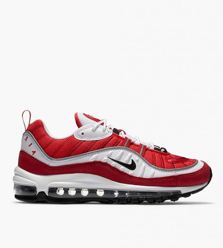 Nike Nike Air Max 98 White Black Gym Red Reflect Silver