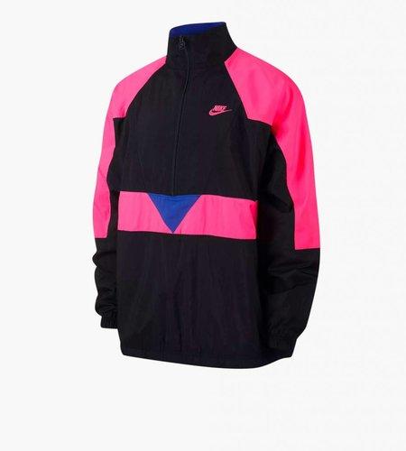 Nike Nike M NSW Swoosh Woven Half Zip Jacket Black Hyper Pink Hyper Royal