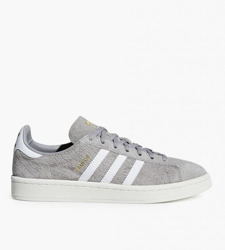 Adidas Adidas Campus Crocodile Embossed Solid Grey Gold Metallic